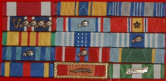 Us Air Force Ribbons Chart